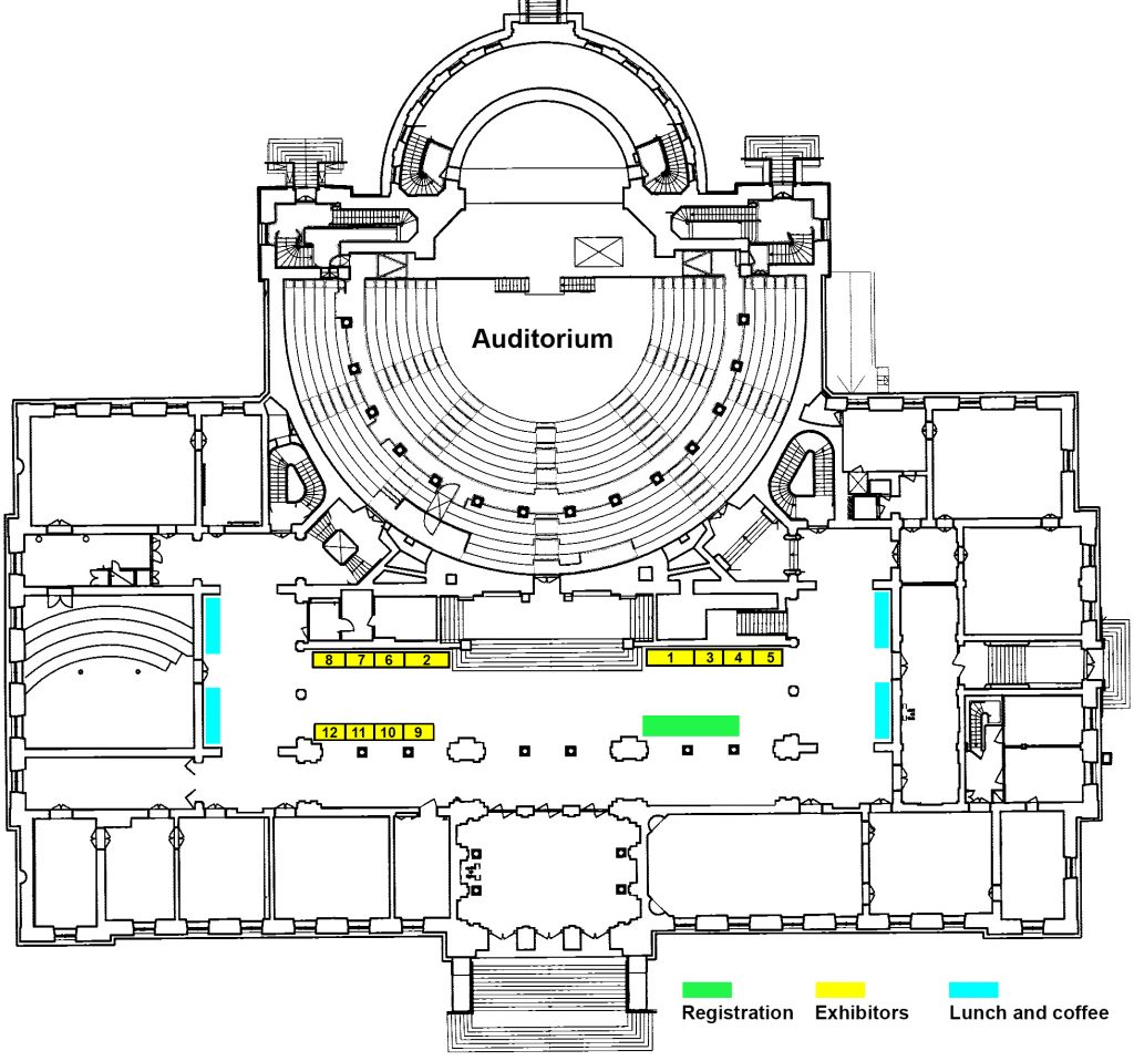 Floor plan Uppsala University Main Building. Illustration.